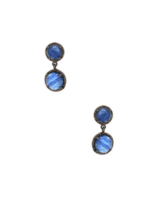 Adornia - Blue Champagne Diamond And Kyanite Drop Earrings - Lyst