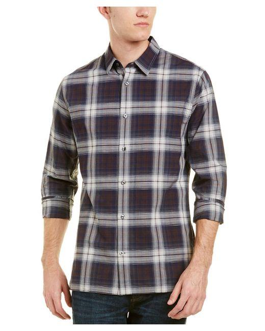 Vince - Blue Melrose Plaid Slim Fit Button Down Shirt for Men - Lyst