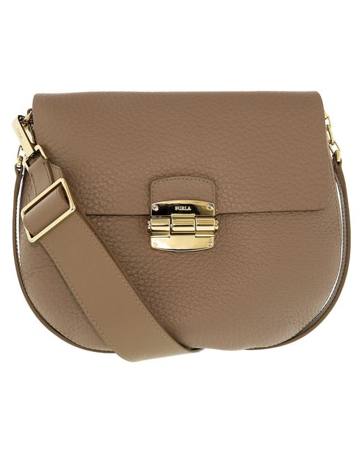 Furla - Natural Women's Club Crossbody Chuck Leather Cross Body Bag - Lyst