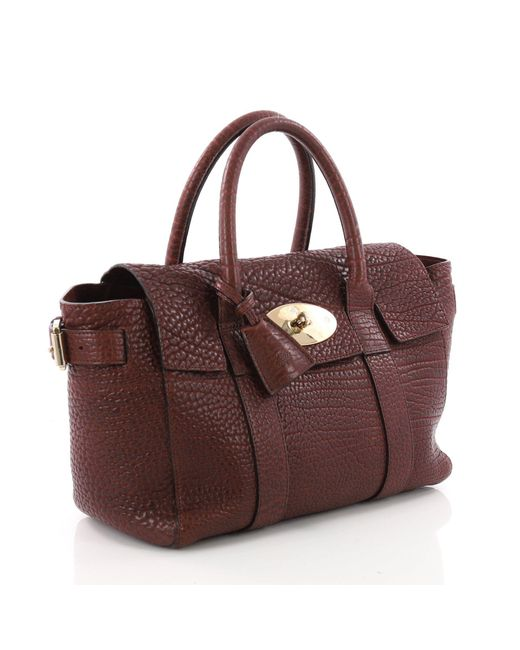 6e879bebe2 ... Mulberry - Brown Pre Owned Bayswater Satchel Leather Small - Lyst ...
