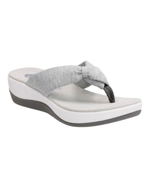 Clarks - Gray Women's Arla Glison Thong Sandal - Lyst