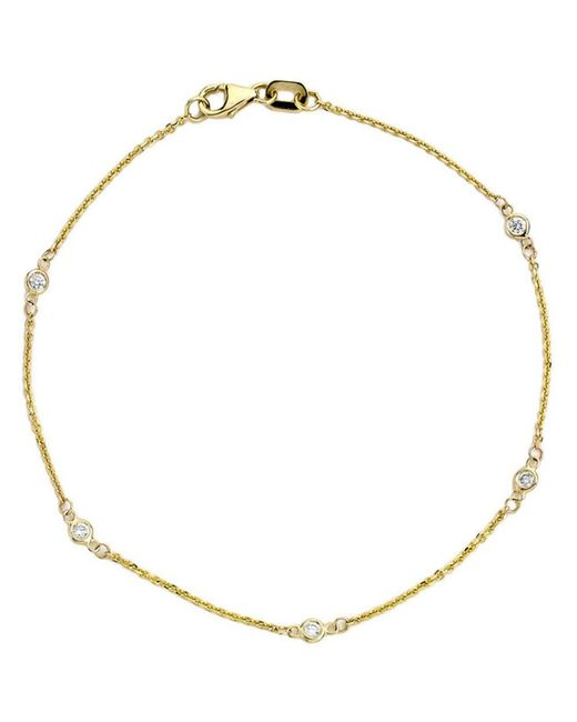 Suzy Levian - Metallic 14k Yellow Gold 1/6ct Tdw Diamonds By The Yard Bracelet - Lyst