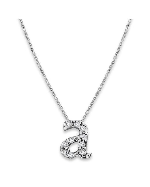 KC Designs | White 14k Gold And Diamond Lowercase Initial Necklace, A | Lyst
