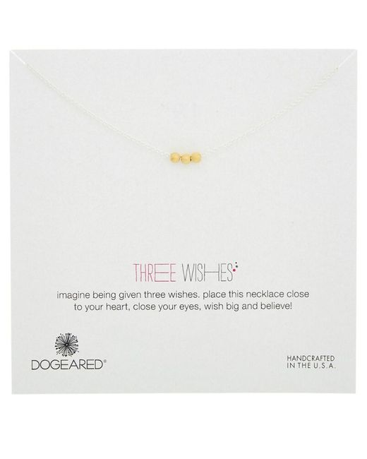 Dogeared | Metallic 3 Wishes Gold & Silver Necklace | Lyst