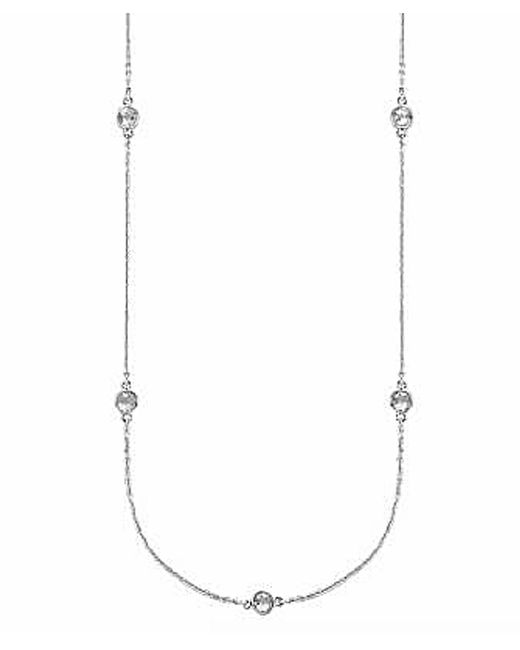 Tia Collections | .925 4mm White Topaz 10 24'' 10station Necklace | Lyst