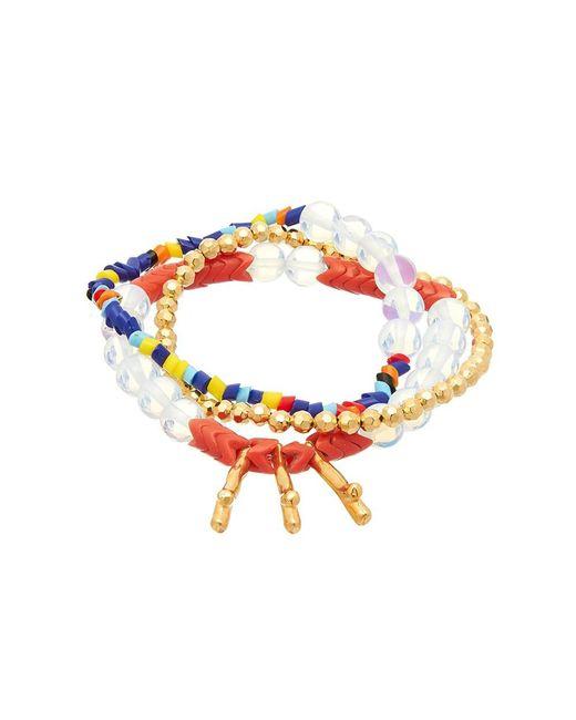 Sugar NY | Gummi Spike Red Bracelet | Lyst