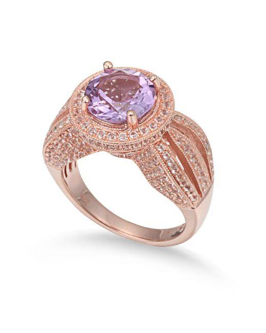 Suzy Levian - Metallic Sterling Silver 4.37 Tcw Purple Amethyst Ring - Lyst