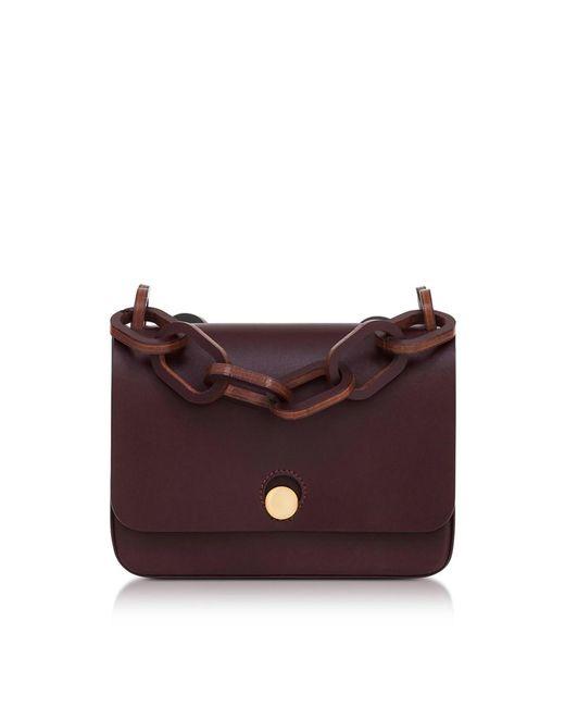 Sophie Hulme - Red Women's Burgundy Leather Shoulder Bag - Lyst