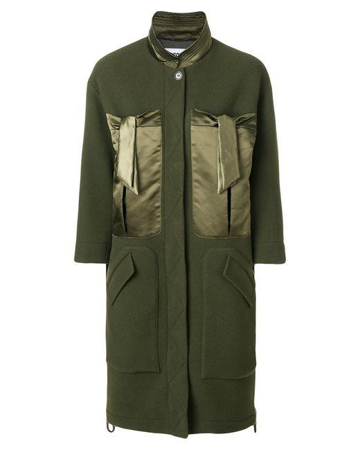 Moschino - Green Satin Pocket Coat - Lyst
