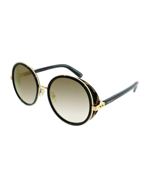 3566541ec53 Jimmy Choo - Jc Andie n 0nq Gold Black Cheetah Round Sunglasses - Lyst ...
