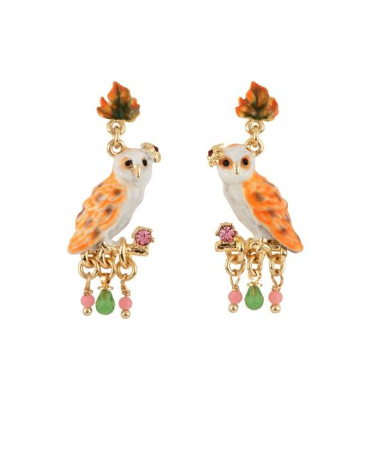 Les Nereides | Brown In The Moonlight Snow Owl On A Branch Earrings | Lyst