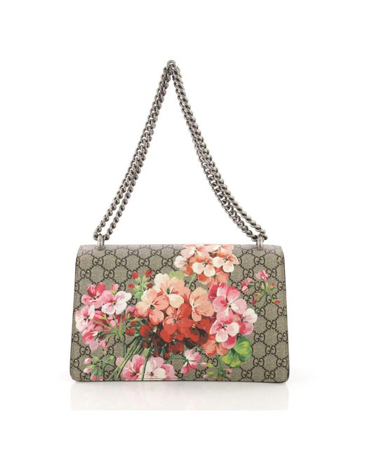 128a10f3746515 ... Gucci - Multicolor Pre Owned Dionysus Handbag Blooms Print GG Coated  Canvas Small - Lyst ...