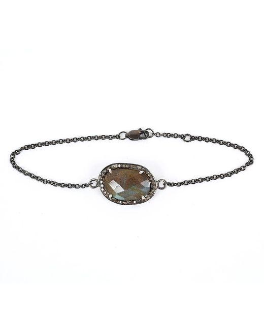 Adornia   Gray Labradorite And Champagne Diamond Dree Bracelet   Lyst