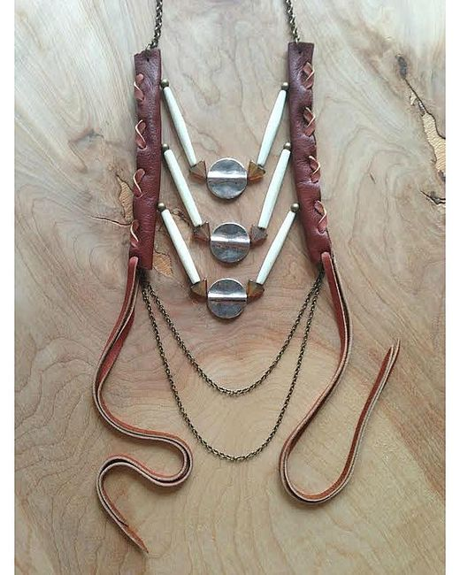 Love Leather   Multicolor Amber Sunset Necklace   Lyst