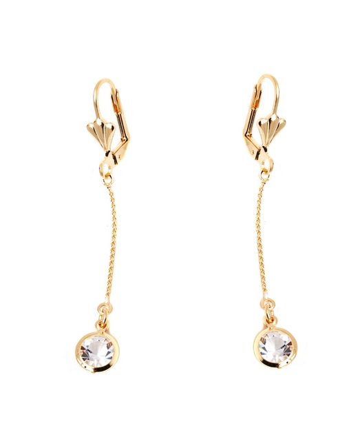Peermont | Metallic Gold And Crystal Elements Chain Drop Earrings | Lyst