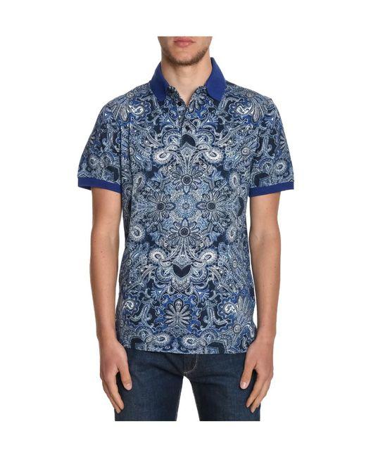 Etro | Men's Blue Cotton Shirt for Men | Lyst