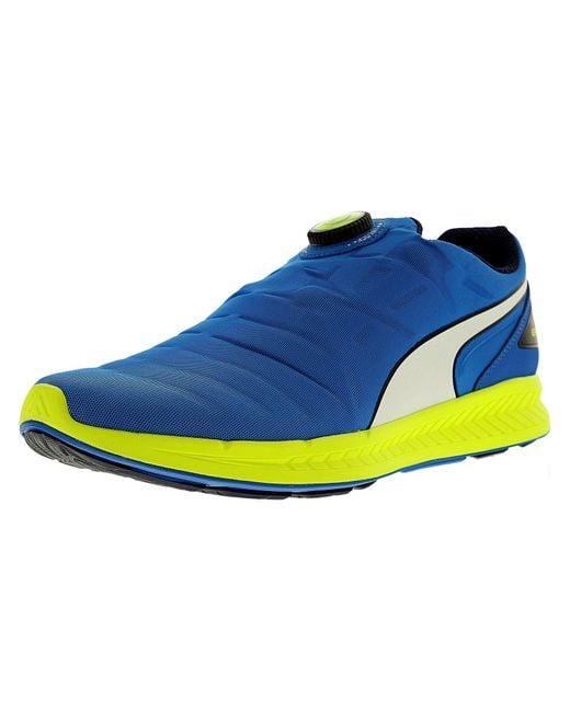 PUMA - Blue Men's Ignite Disc Ankle-high Running Shoe for Men - Lyst