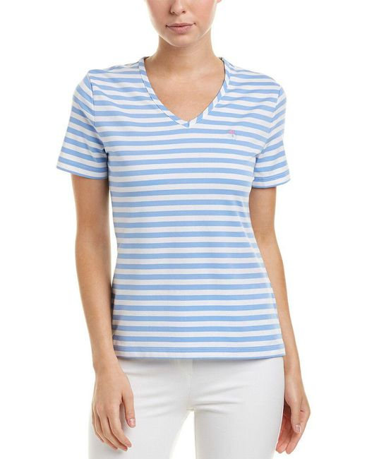 Brooks Brothers - Blue Top - Lyst