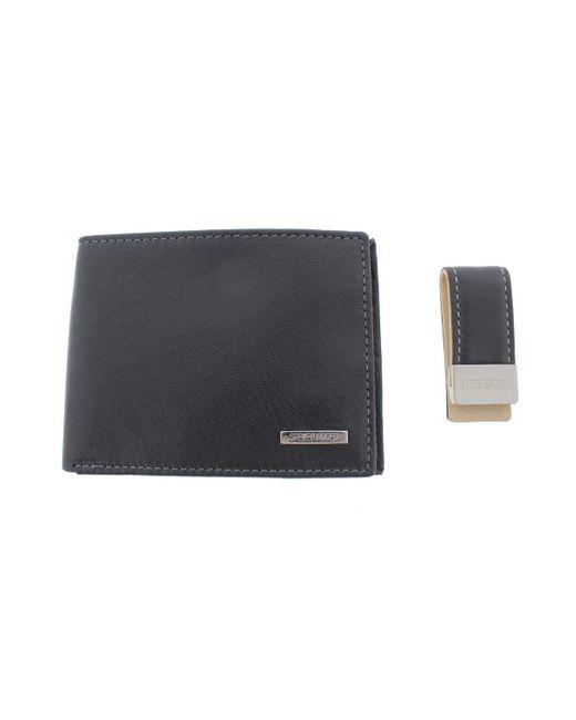 Steve Madden - Black Mens Leather Rfid Protection Bifold Wallet for Men - Lyst