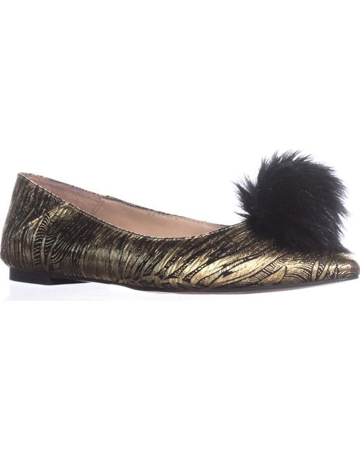 Franco Sarto - Metallic Sukie Ballet Flats, Bronze - Lyst
