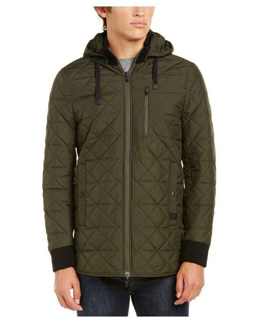 Victorinox | Green Swiss Army Quilted Hooded Jacket for Men | Lyst