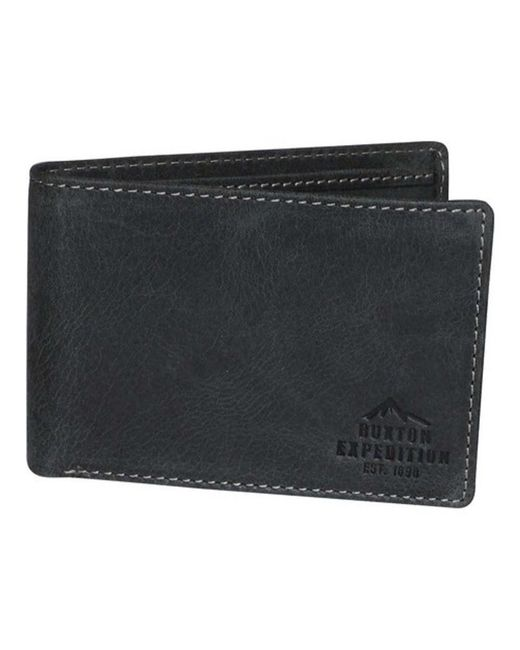 Buxton - Black Men's Expedition Ii Rfid Front Pocket Id Slimfold Wallet for Men - Lyst