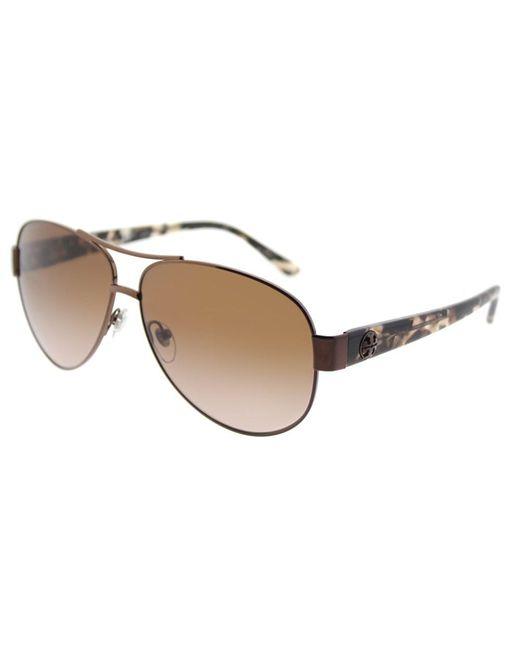 Tory Burch - Metallic Ty 6057 324213 Bronze Aviator Sunglasses - Lyst