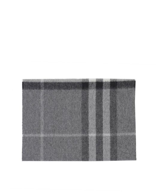 Burberry - Gray Men's Grey Cashmere Scarf for Men - Lyst