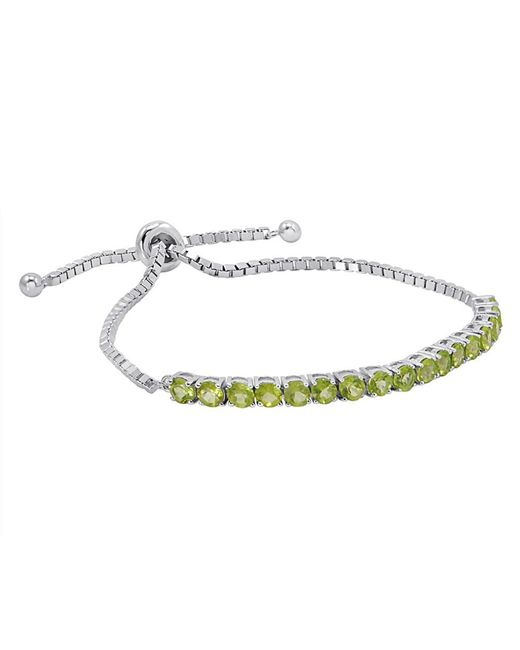 Amanda Rose Collection - Multicolor Gemstone Bolo Style Bracelet In Sterling Silver, Choice Of Amethyst, Blue Topaz Or Peridot - Lyst