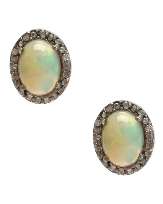 Adornia | Yellow Opal And Champagne Diamond Echo Ii Earrings | Lyst