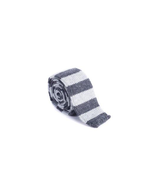 Brunello Cucinelli - Mens Pure Cashmere Gray Striped Tie for Men - Lyst