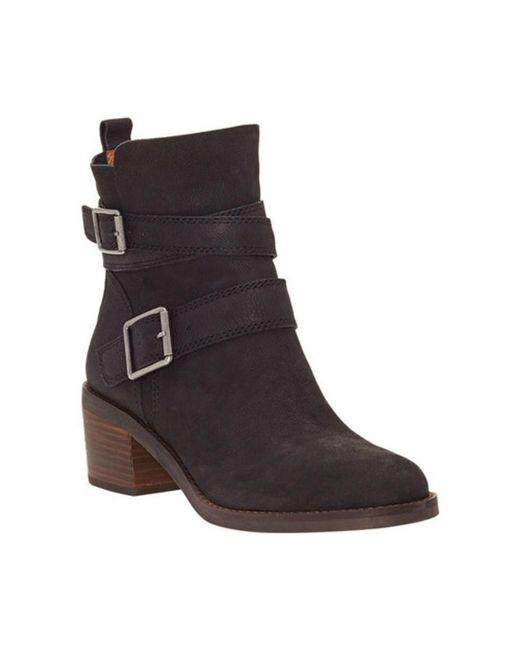 Lucky Brand - Black Cordeena Block Heel Bootie - Lyst