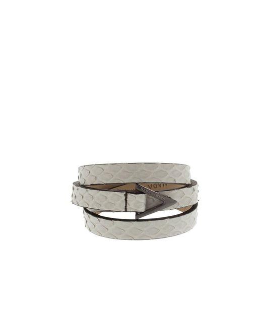Nada Sawaya   White Wrap Me - 3 Rows Python Wrap Bracelet   Lyst