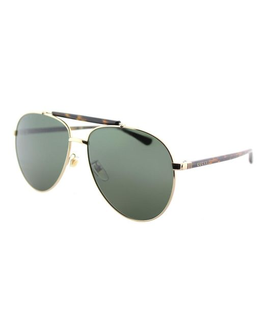 e4eb176fa94 Gucci - Metallic Gg0014s 006 Gold Aviator Sunglasses - Lyst ...