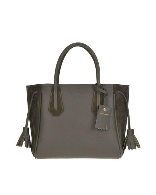 Lyst - Longchamp Women s Blue Suede Handbag in Blue - Save ... 9862ee2336149