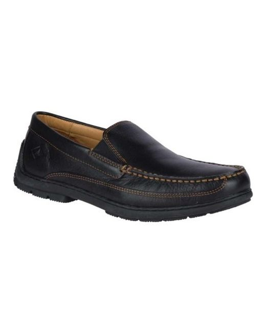 Sperry Top-Sider - Black Men's Gold Cup Twin Gore Loafer for Men - Lyst