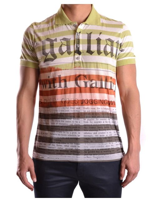 John Galliano - Men's Mcbi130108o Multicolor Polyester Polo Shirt for Men - Lyst