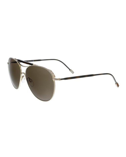 Ermenegildo Zegna - Metallic Zc0021 29j Silver Aviator Sunglasses for Men - Lyst