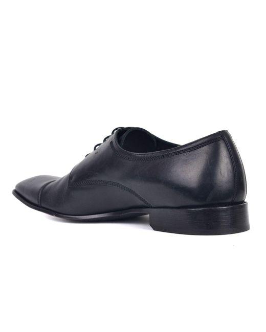 8fa6303f3ff ... Versace - Mens Black Leather Cap Toe Oxfords for Men - Lyst ...
