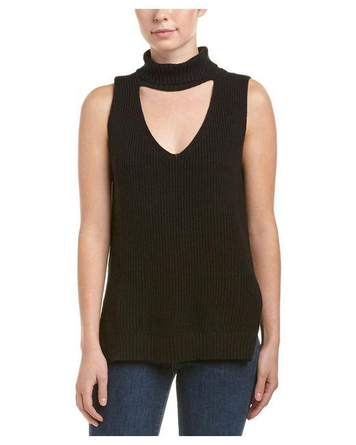 BCBGeneration - Black Keyhole Sweater Vest - Lyst