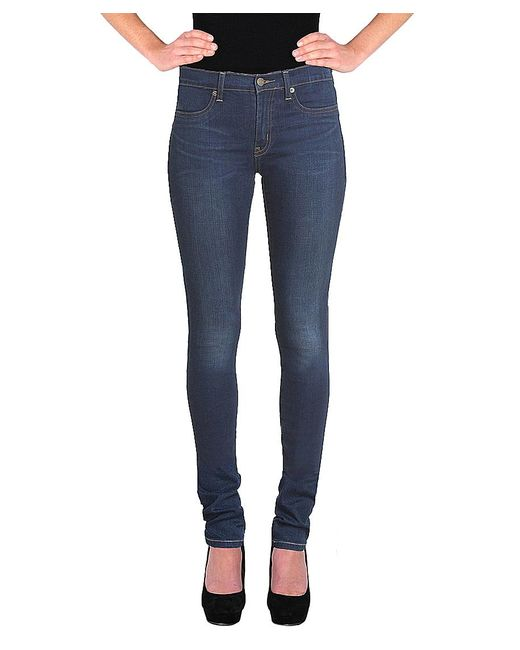 Henry & Belle | Blue High Waisted Super Skinny Jean | Lyst