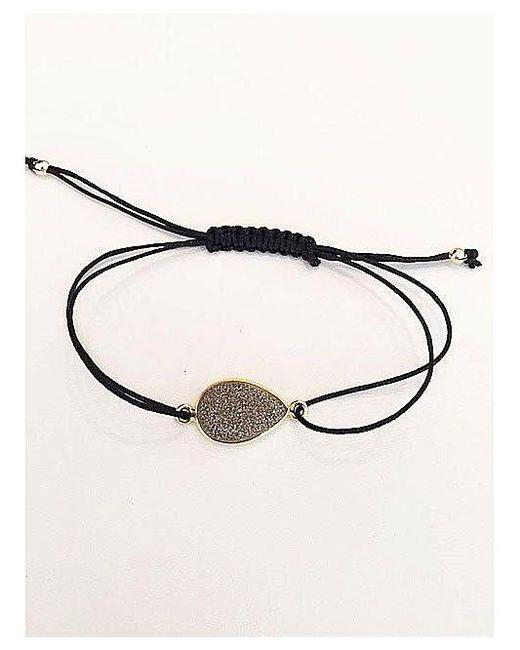 Blue Candy Jewelry   Metallic Grey Druzy Pear Bracelet   Lyst