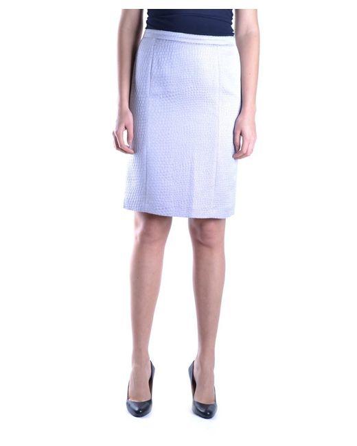 Armani - Women's Mcbi024127o Purple Acetate Skirt - Lyst