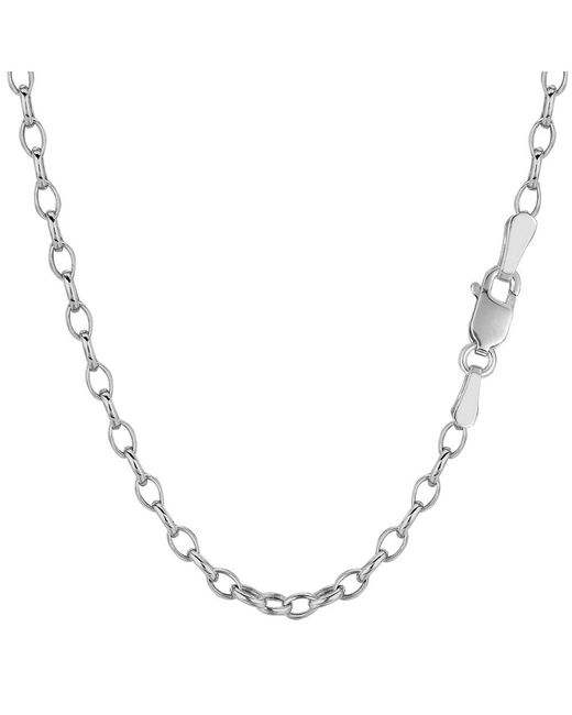 JewelryAffairs - 14k White Gold Oval Rolo Link Chain Bracelet, 4.6mm, 7 for Men - Lyst