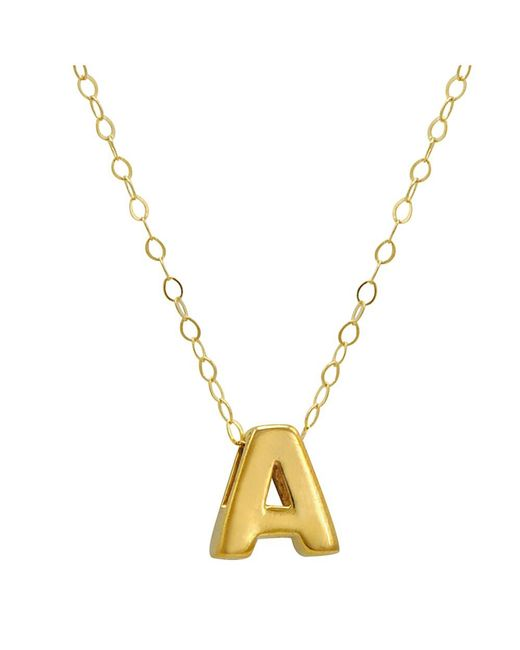 """Amanda Rose Collection - Metallic Amanda Rose 10k Yellow Gold Petite Initial """"a"""" Pendant-necklace On A 17 In. Chain - Lyst"""