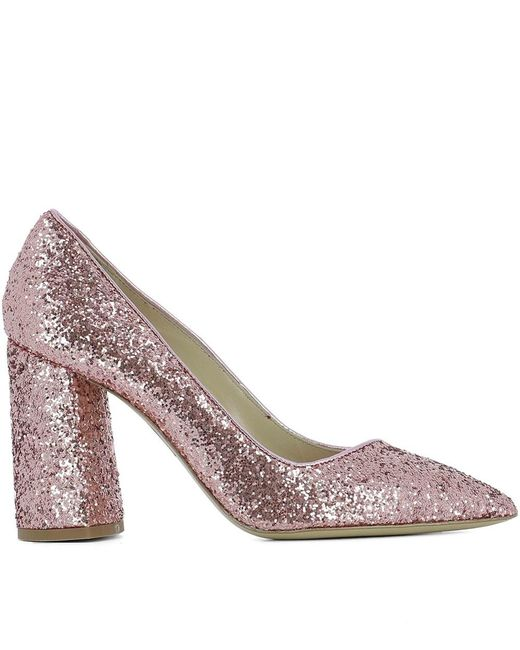 Strategia - Women's Pe4327gglitternude Pink Leather Pumps - Lyst