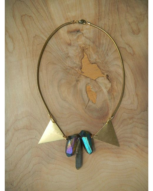 Love Leather | Multicolor Disco Rock Necklace | Lyst