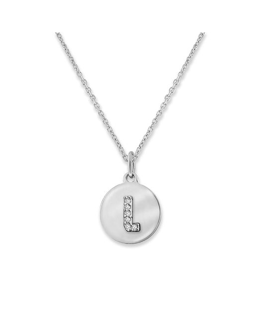 KC Designs | White 14k Gold And Diamond Lowercase Initial Necklace, L | Lyst