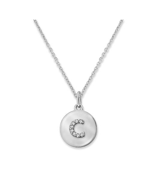 KC Designs | White 14k Gold And Diamond Lowercase Initial Necklace, C | Lyst