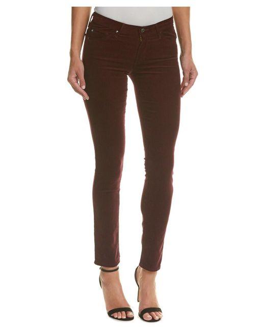 AG Jeans - Red Prima Wine Corduroy Cigarette Leg - Lyst